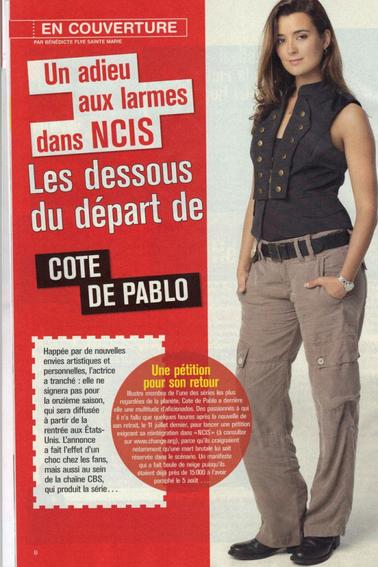 Cote dans le Télé Magazine du 24 au 30 aout 2013