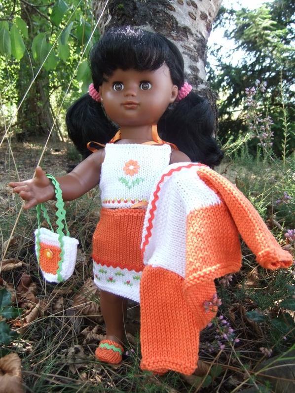 Emilie - Kit tricot Mandarine Août 2012
