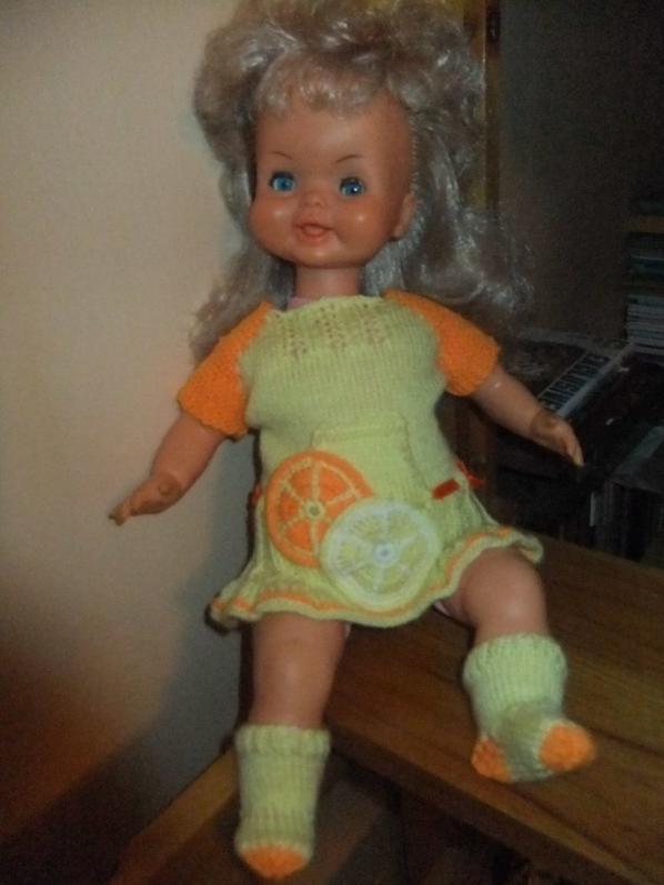 Citron-Mandarine: une petite robe acidulée pour ma souriante petite Bella!