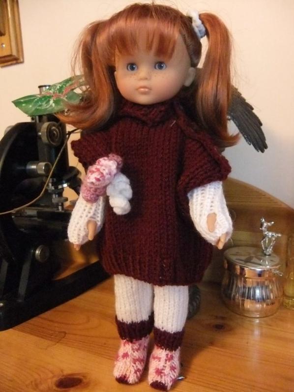 Revoici ma petite Marie avec sa nouvelle tenue bien chaude!