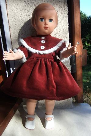 Françoise dans sa jolie robe de décembre 1954!