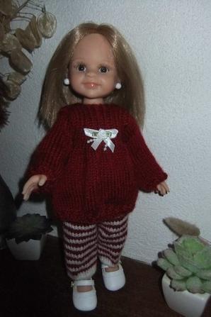 Un pantalon et une tunique au tricot pour ma petite Marion!