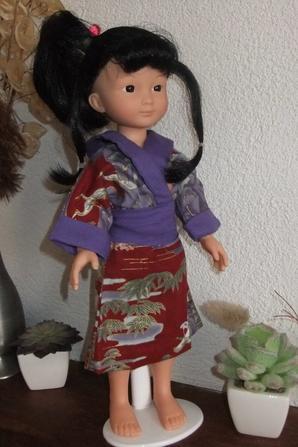 Atsuko a mis son kimono!