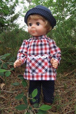 Mai 75 au jardin: suite, la tenue de Jean-Michel!