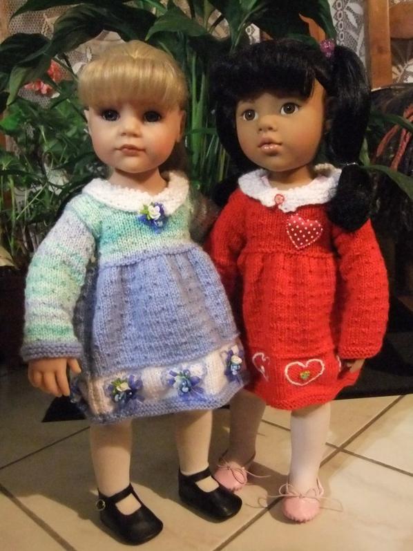 Hannah et Annette ou deux versions de la robe de Nathalie!
