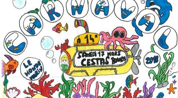 Samedi ce sera carnaval chez moi, à Cestas et les enfants sont prêts!