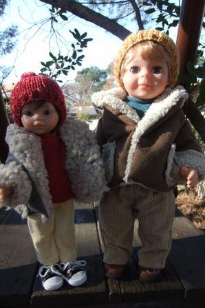 Et voilà les manteaux! Modèle de novembre 2018.