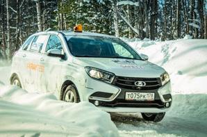LADA XRAY à la neige et visite du Vice-Président de l'Alliance à Togliatti !!!