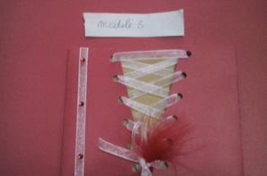 """modele faire parts mariage couleur """" or blanc et rouge """""""