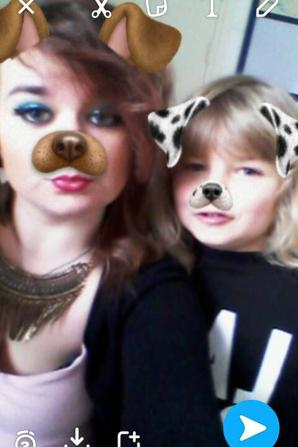 ma fille et mon garçon que j'aime