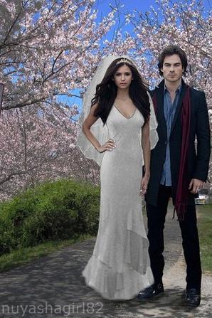 vampire diaries damon et elena mariage