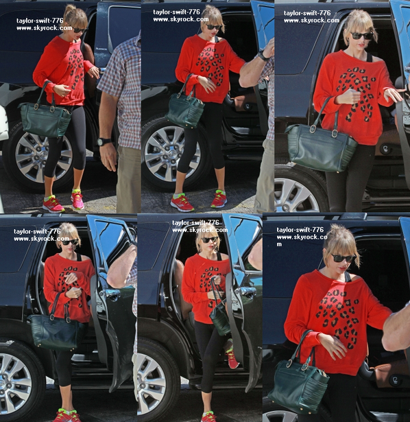 Taylor look: Taylor qui sort d'une studio de dance en californie