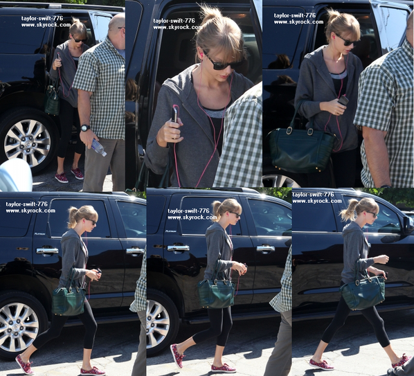 Taylor look: Taylor et sortie du studio de dance a Los Angeles