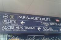 L'ancienne signalétique du métro RER.