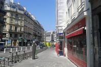 Le quartier des Halles à Paris.