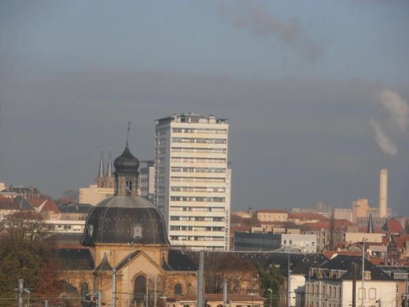 Metz vue du Centre Pompidou.