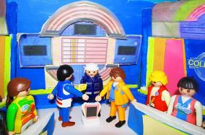 Maquettes plateau émissions jeu TV pour playmobil.