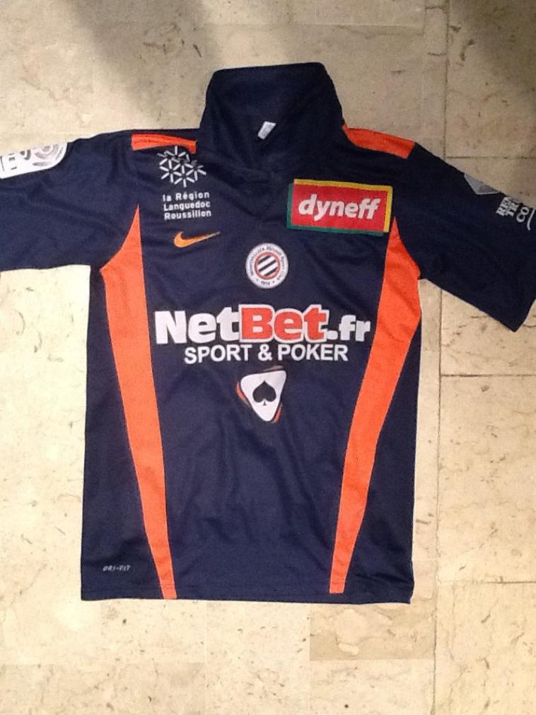 Maillot Gregory Lacombe Montpellier 2010 2011 --- A VENDRE