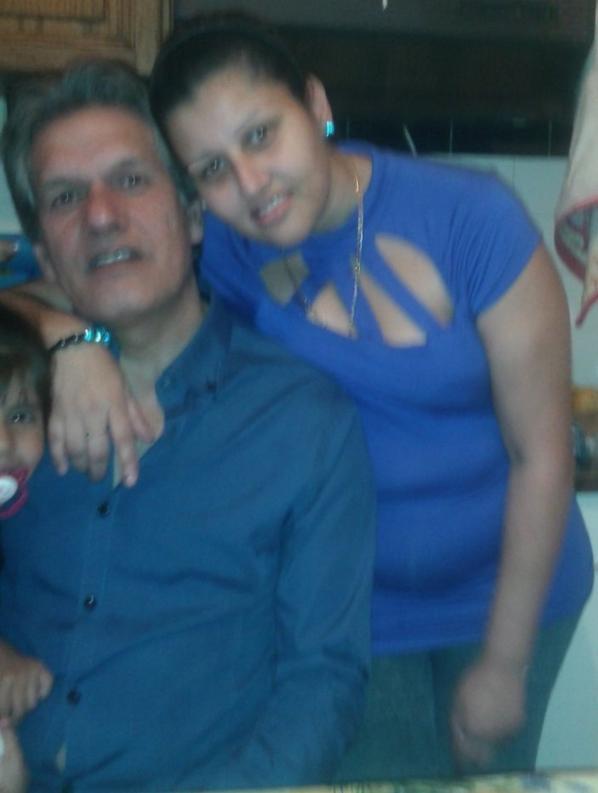 a un aniverssaire de mon père moi mon neuveux calvin  et ma nièsse angelis