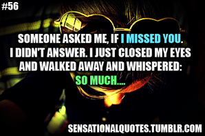 missing someone </3
