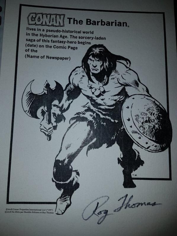 Roy Thomas (scénariste et dialoguiste) (Conan le Barbare)