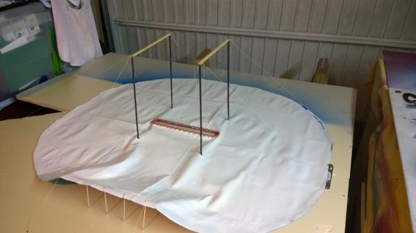 Nouveau chapiteau maquette cirque Pinder 1/50