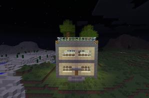maison avec jardin sur le toit