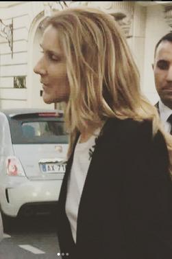 Le 16/06/17 Céline sort de l hôtel à Paris, certainement pour les répétitions du concert à Stockholm, Suède le 17/06