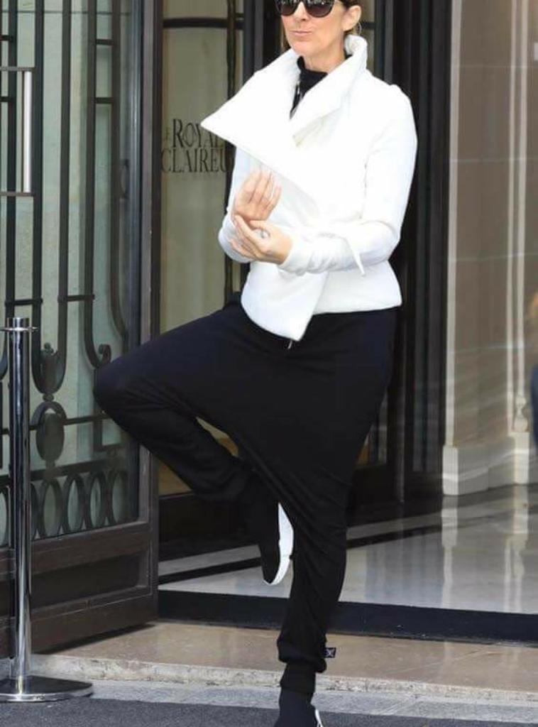 Céline qui sort de son hotel pour aller à gelredome - Arnhem, pays-bas le 23 juin