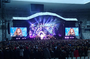 Céline la reine du stade à Bordeaux ...