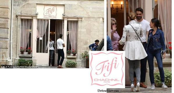 Céline a fait un peu de shopping cet après-midi  à Paris dans la boutigue Fifi Chachnil , elle a été photographiée en train de regarder et certainement s offrir  de beaux dessous et maillot de bains ;)
