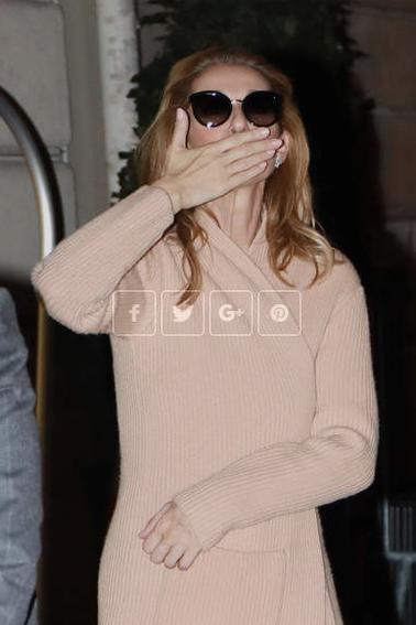 Céline Dion, de retour de Birmingham, prend le temps de saluer ses fans à 2h du matin! Comme à chaque fois ;)