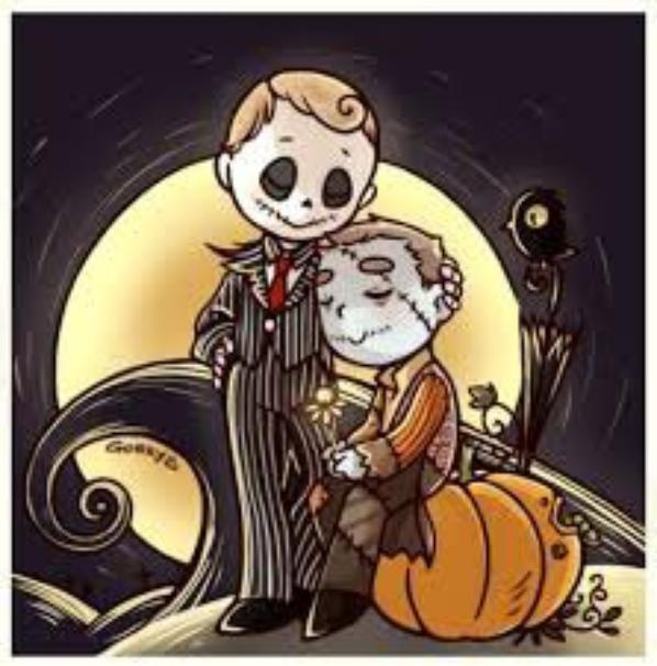 "OS~Johnlock/Mystrade~ ( pour Halloween en retard ^^"" )"