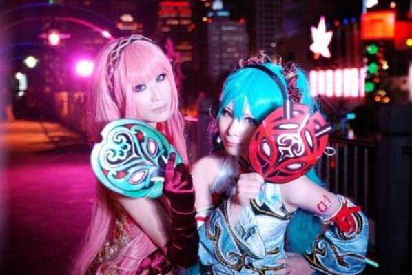 Luka et Miku cosplay !