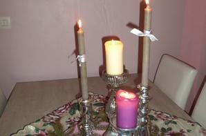 xmas flowers and candles