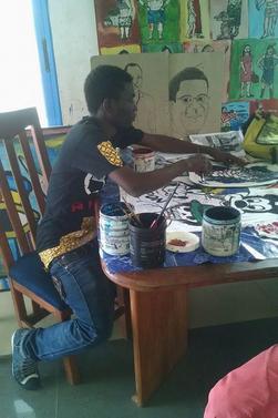 artiste peintre fashion designer tinkpon kainfri wear