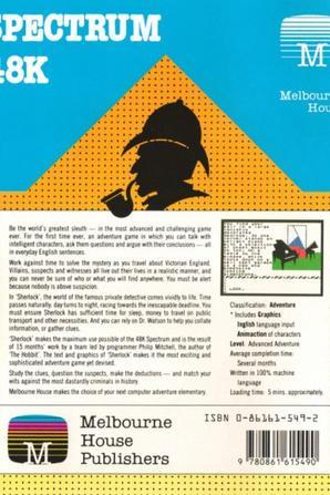 Le premier jeu vidéo Sherlock Holmes