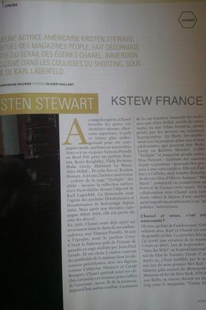 Scan: Interview de Kristen dans Victoire Magazine (Belgique)
