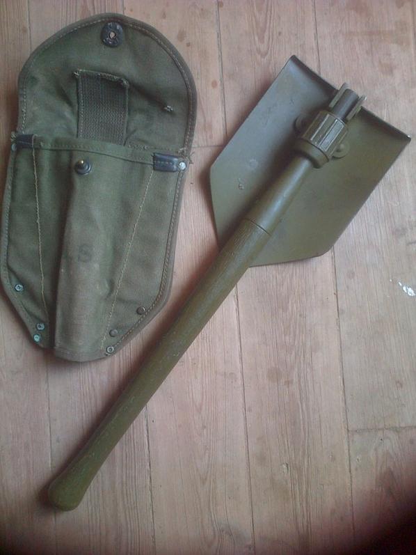 Pelle M43 US Para, Fabricant Wood 1944 + Housse.