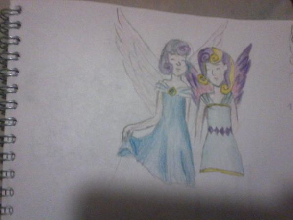 Flurry heart et Skyla enfant dessin colorier