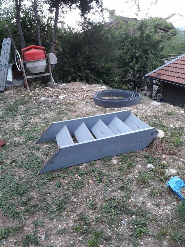 Préparation nouvel escalier