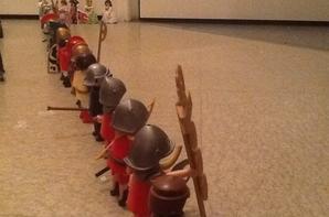 Visite de l'Ecole Militaire par la princesse et le Prince de St François