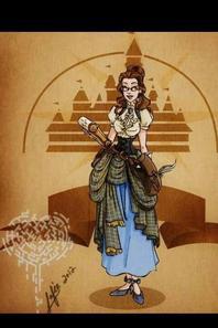 Lesprinces et les  princesse en mode Steampunk