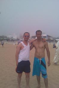 moi et mon ami edwan à Agadir