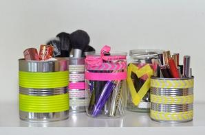[DIY n°1] Pots de rangements make-up