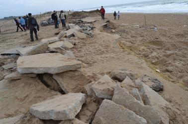 Catastrophe Naturelle de Début Janvier avec les Grande Houles à D'Olus D'Oléron.