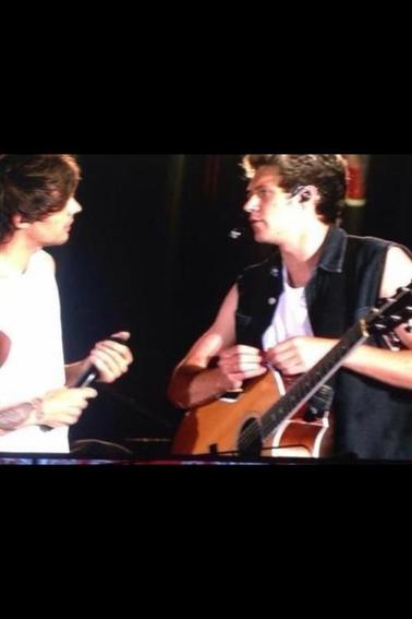 Les boys sur scène à Boston le 07/08/14