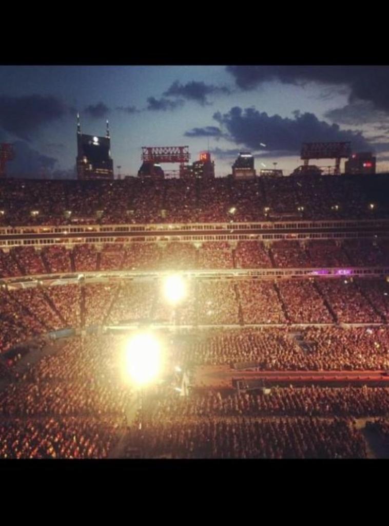 Le stade hier à Nashville (19.08.14)