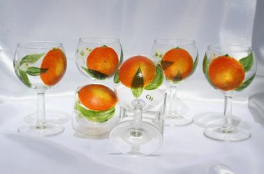 "flûtes à champagne ""ORANGER EN FLEURS"""
