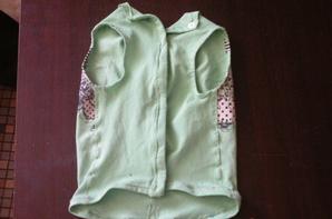 tee-shirt très légé pour votre toutou de couleur vert de joli dessin imprimé au dos